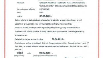 KANS 2016 PZ szkol.praca na wysokości RODO