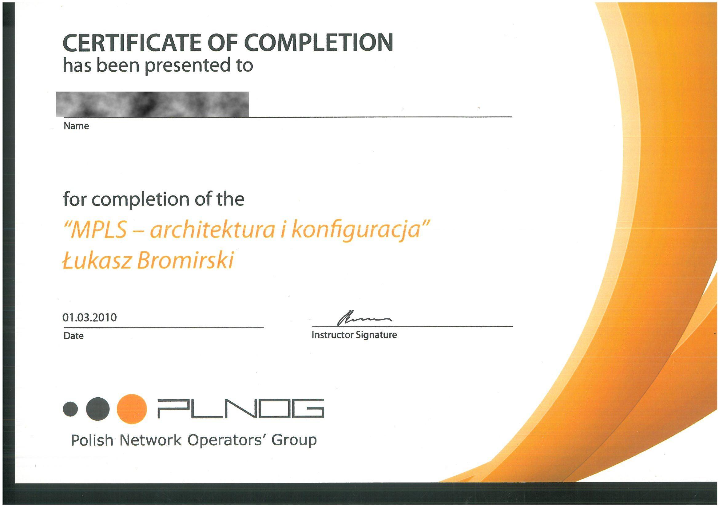 PLNOG 2010 PM Certificate MPLS RODO
