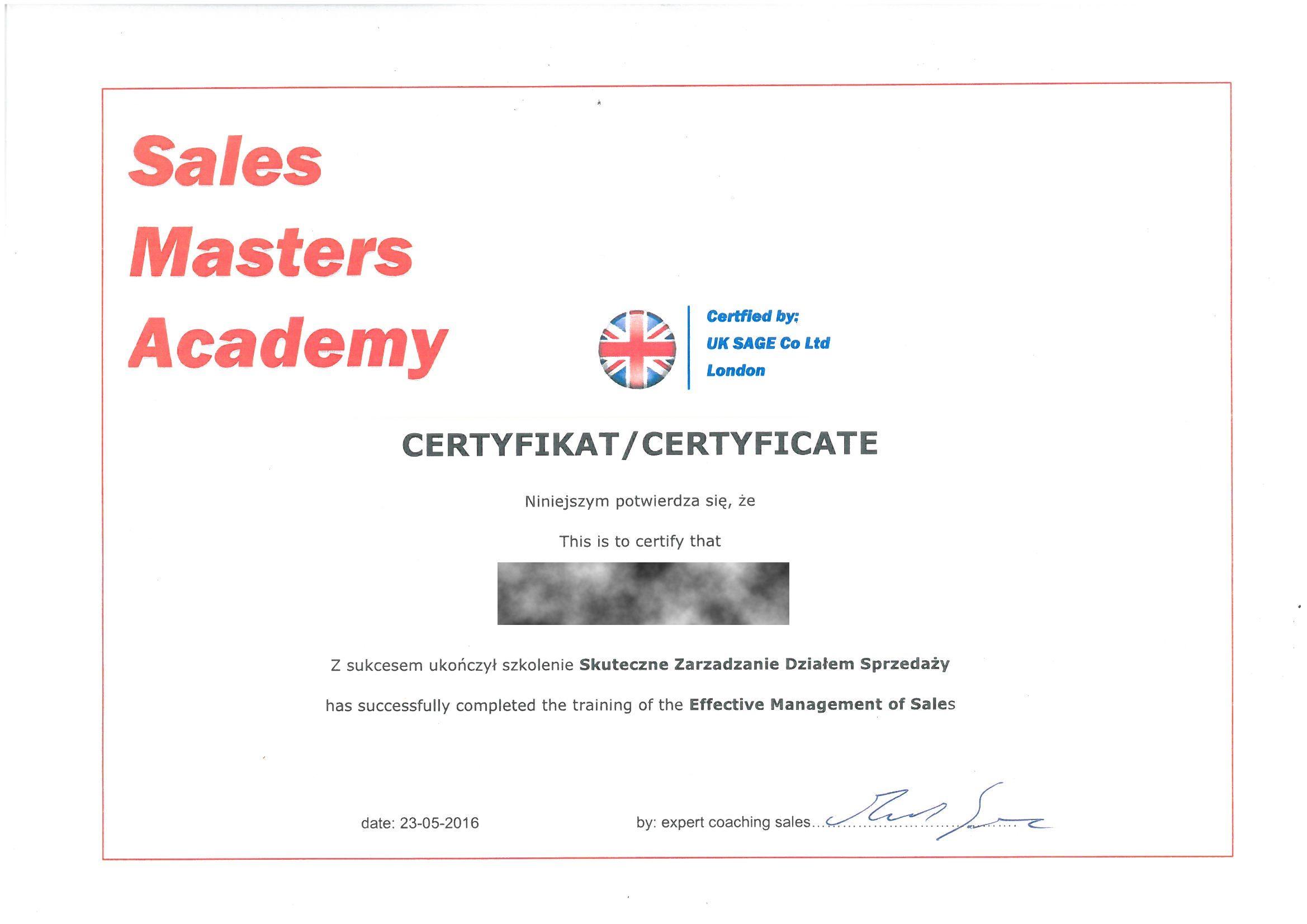 Sales Masters Academy 2016 BB RODO