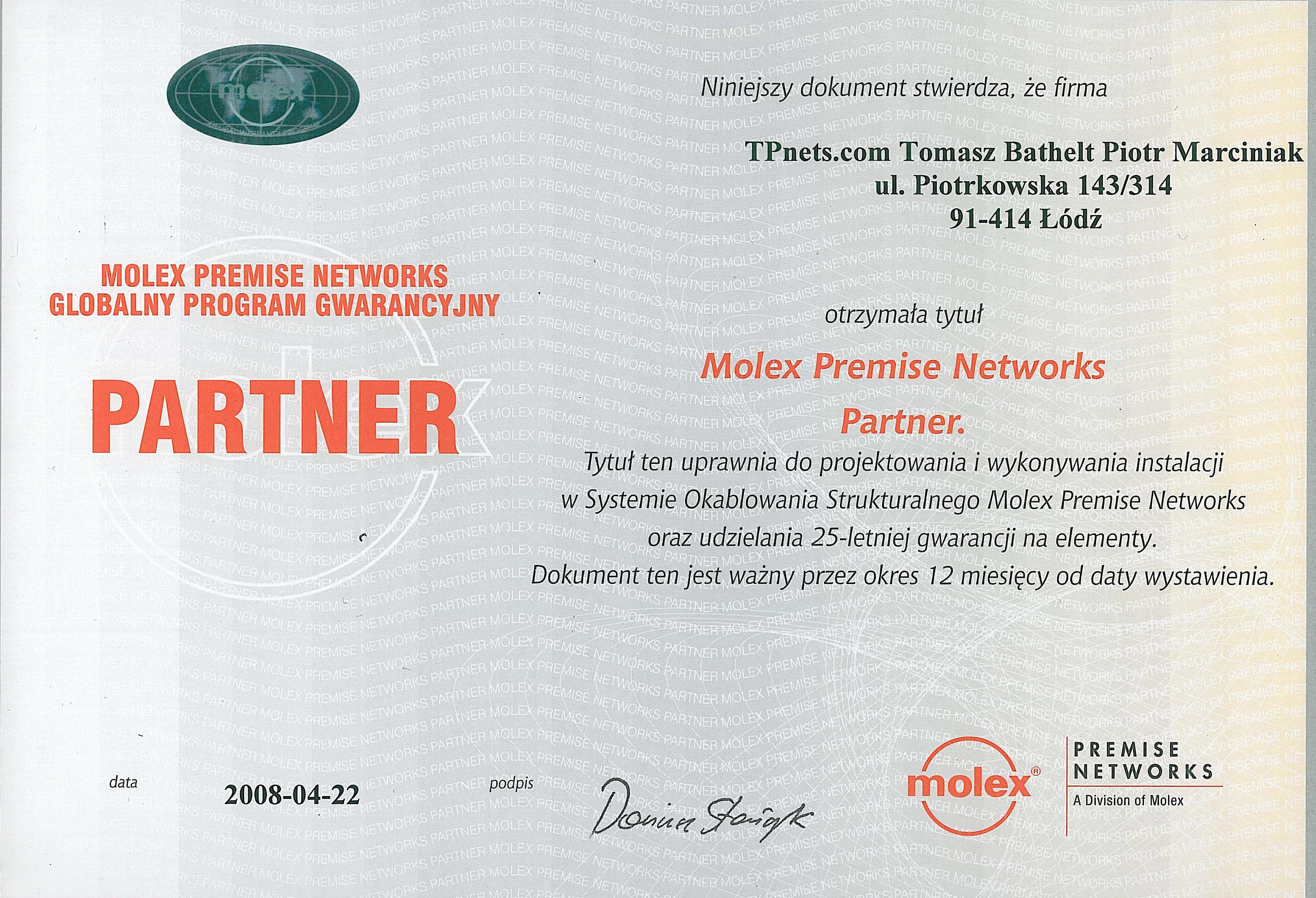 molex_2008_partner